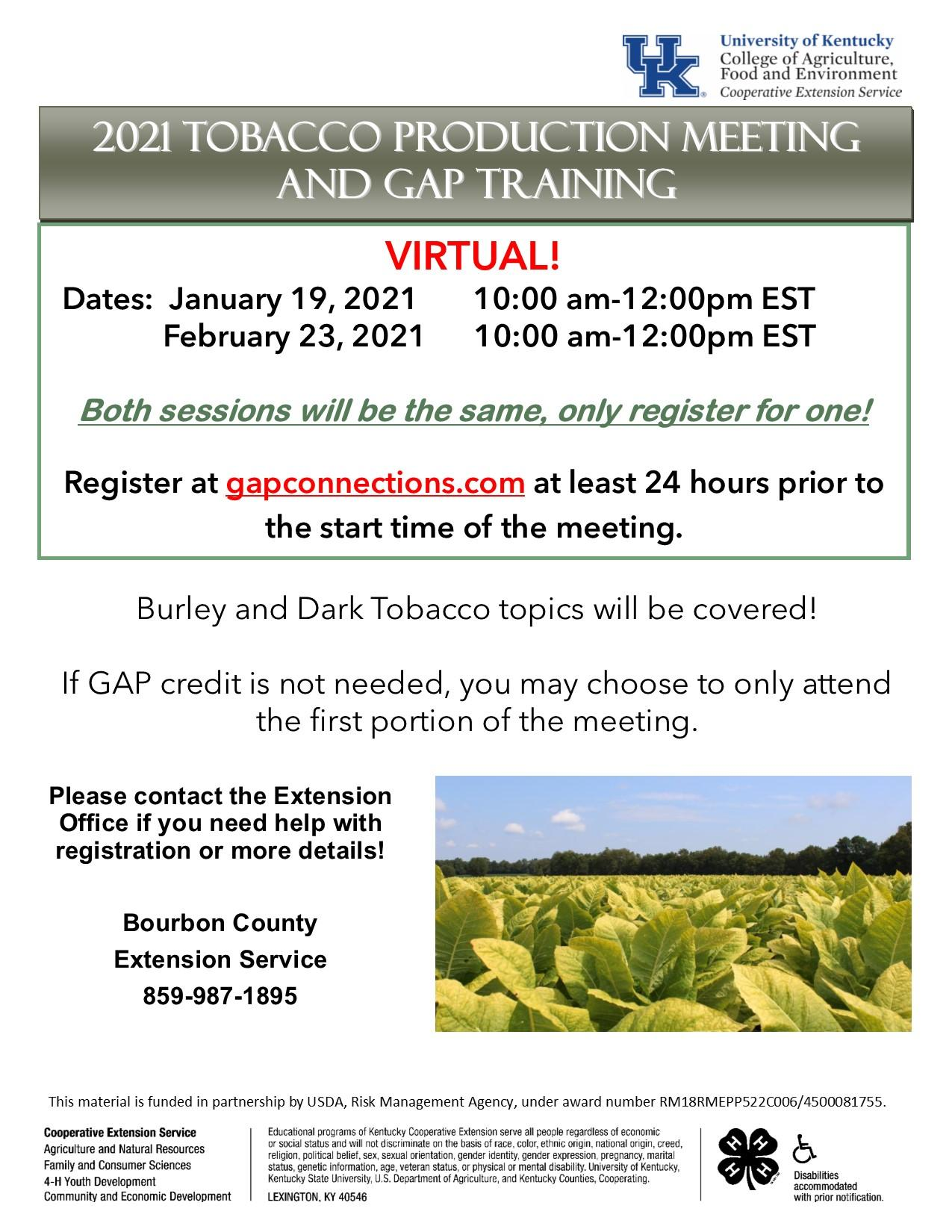 2021 Tobacco Gap Training